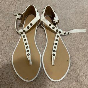 Forever 21 studded flip flops